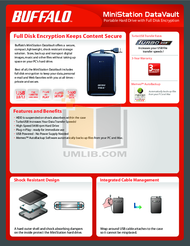 pdf for Buffalo Storage HDS-PH160U2 manual