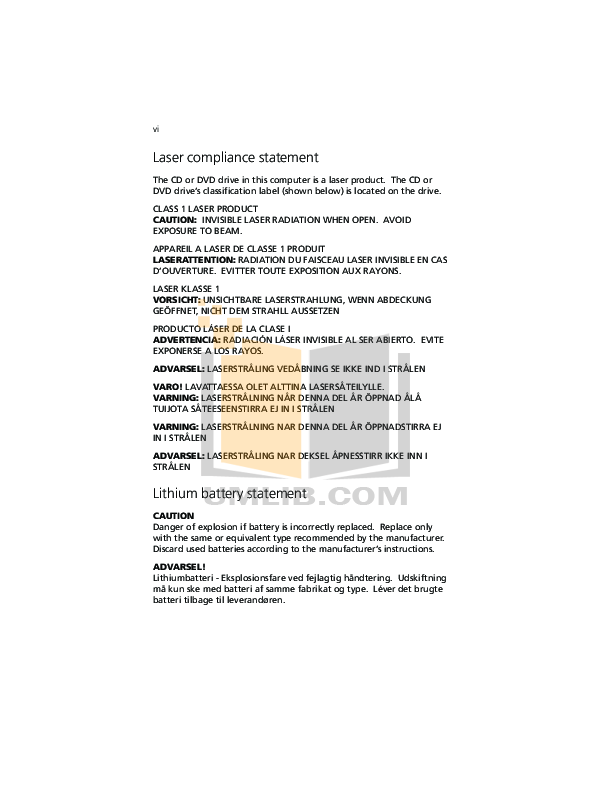 Acer Desktop Veriton 7200 pdf page preview