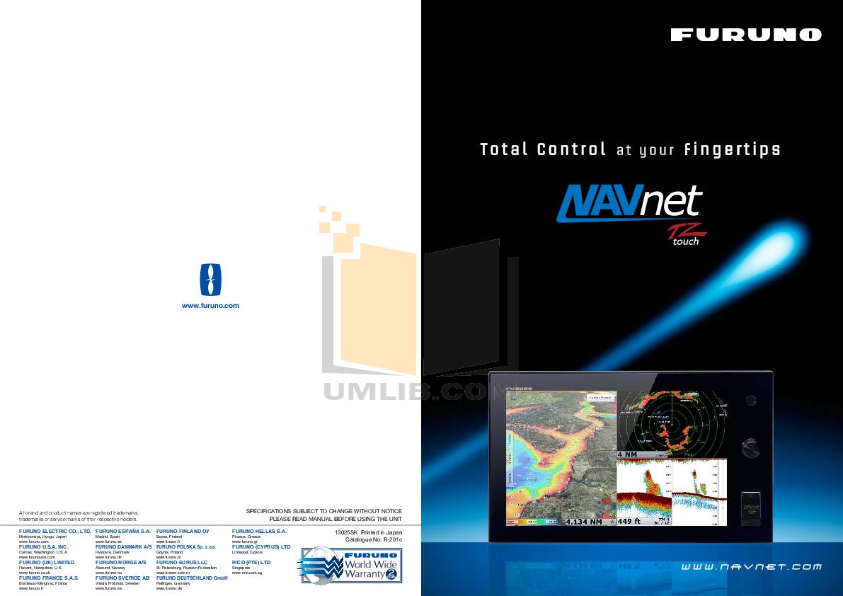 pdf for Furuno Other DFF1 Network Sounder manual