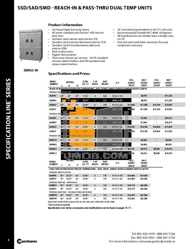 Delfield Other SAH2-GH Merchandiser pdf page preview