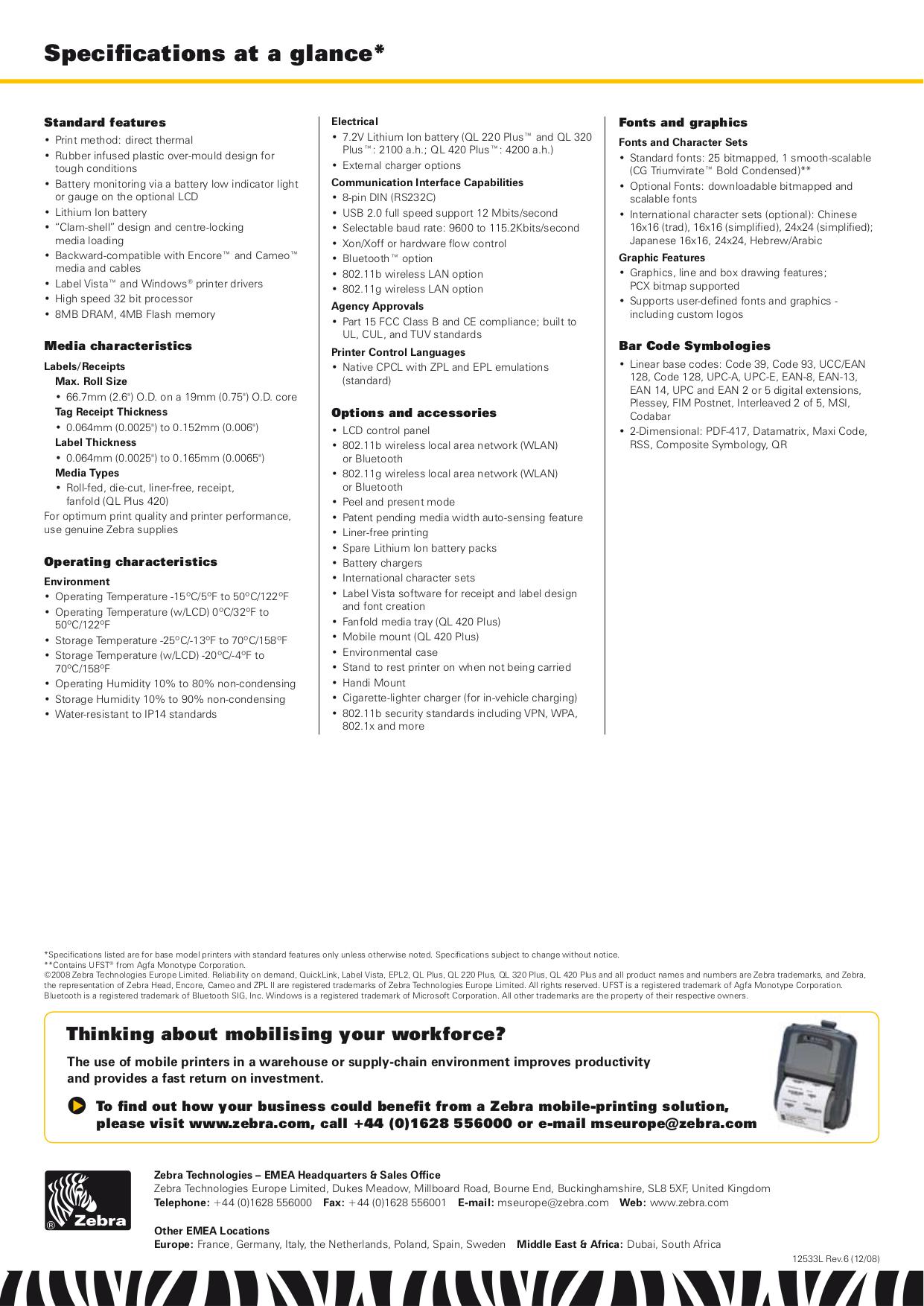 Pdf manual for zebra printer ql420 plus zebra printer ql420 plus pdf page preview fandeluxe Gallery