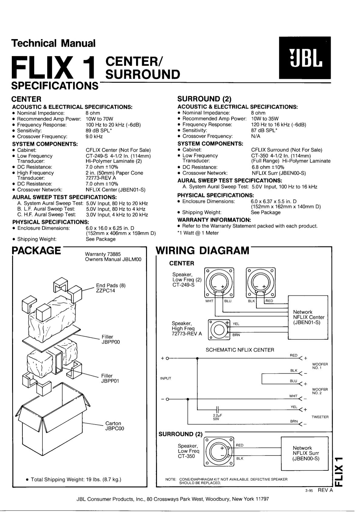 download free pdf for jbl flix 1 speaker manual