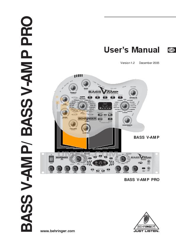download free pdf for behringer bass v amp pro amp manual rh umlib com behringer amp 800 manual behringer amp manual