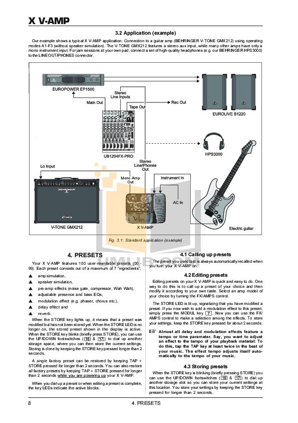 X v-amp problem guitars101 guitar forums.