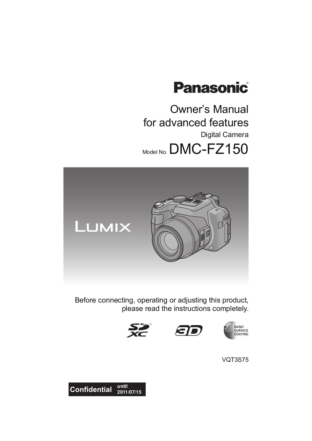 panasonic lumix fz150 manual