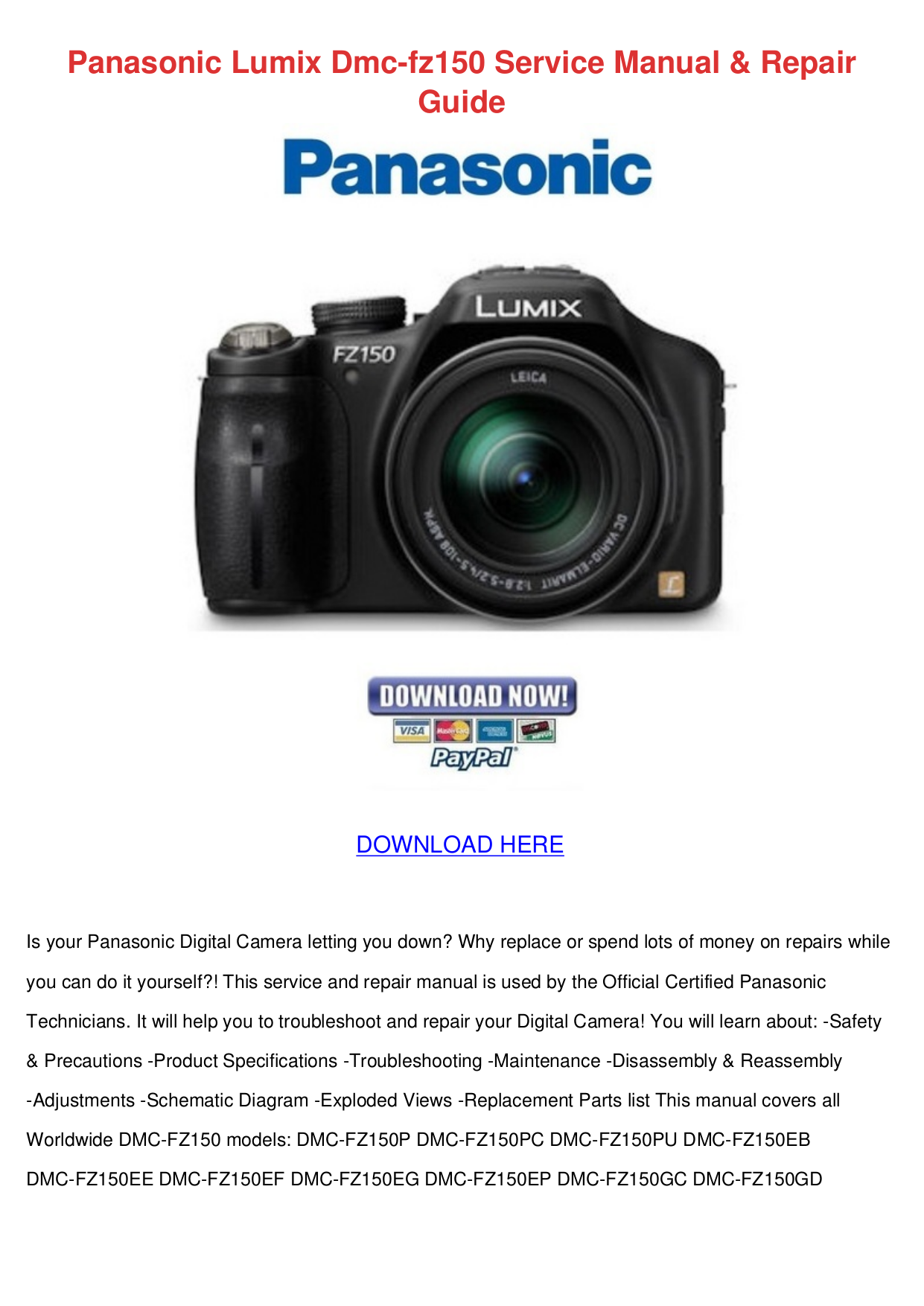 download free pdf for panasonic lumix dmc fz150 digital camera manual rh umlib com panasonic lumix fz150 manual pdf panasonic lumix dmc-fz150 manuel
