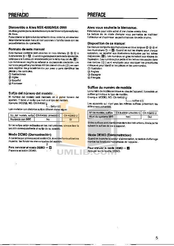 pdf manual for aiwa other nsx 4000 stereo systems rh umlib com Aiwa Nsx V2100 Aiwa Nsx- A202