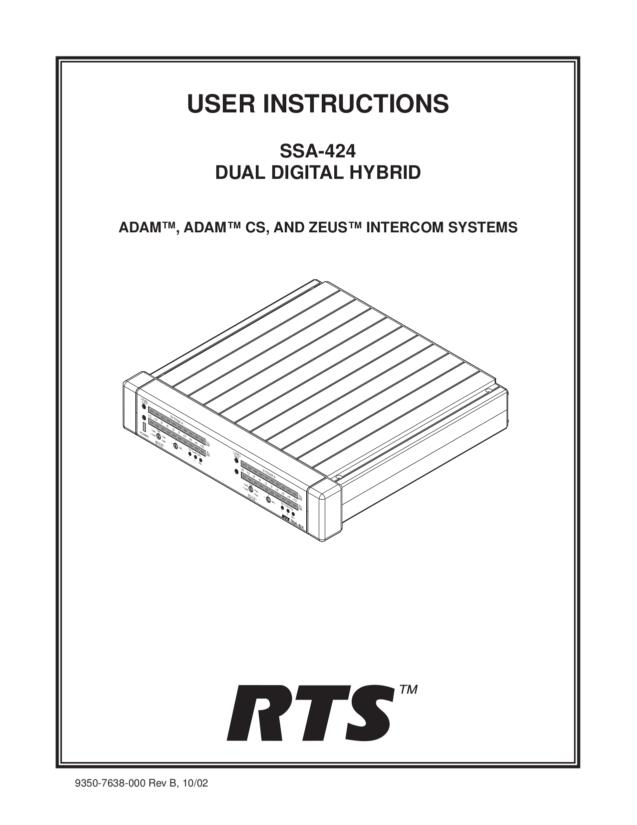 Download free pdf for Telex XCP-16-DB9-T IntercomSystem Other manual