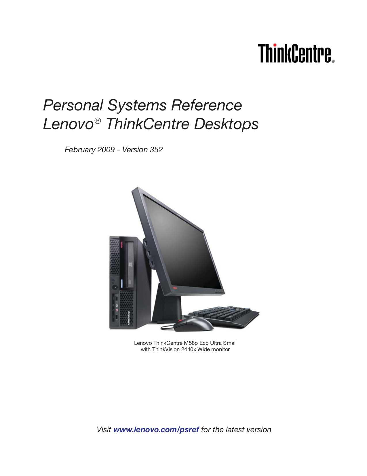 Lenovo Desktop ThinkCentre A62 7057 pdf page preview