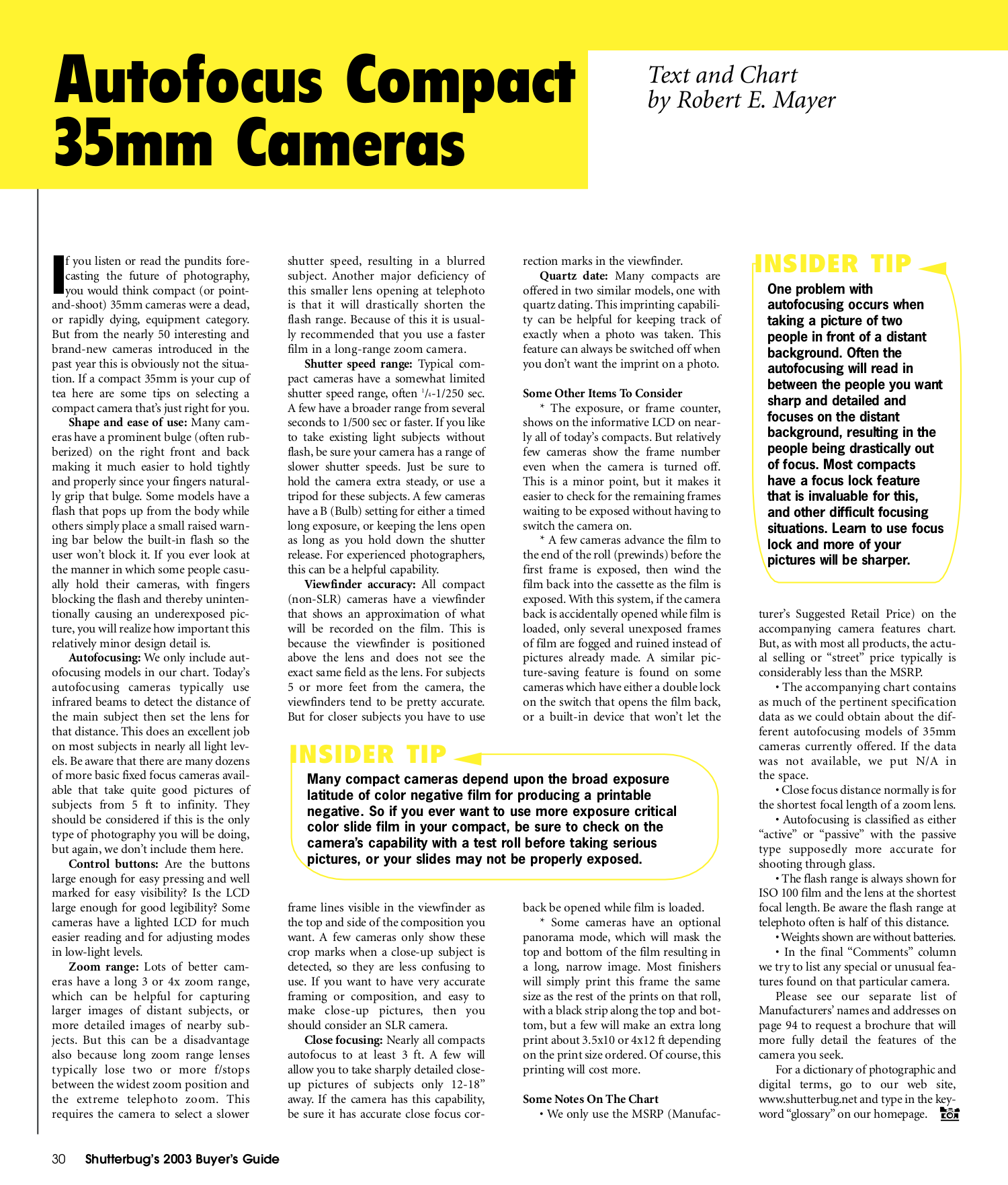 Olympus Other Stylus Epic Zoom 80 CF Camera-film pdf page preview