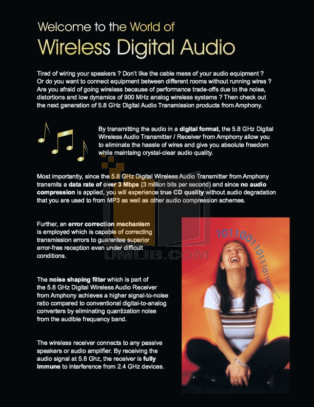 Amphony Other L1500 Audio Transmitters pdf page preview