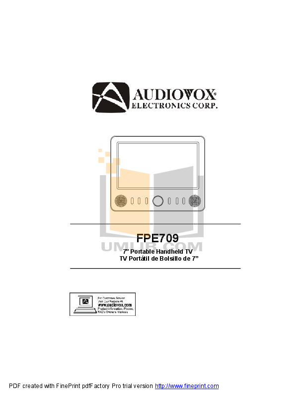 Audiovox Car Receiver ACD-16 pdf page preview