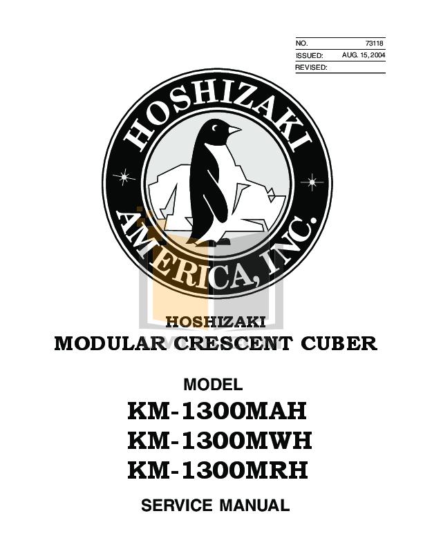pdf for Hoshizaki Other KM-1300MRH Cuber Machines manual