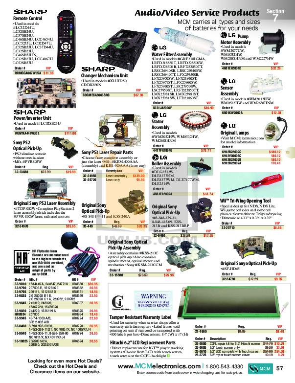 pdf for Hitachi TV 50V710 manual