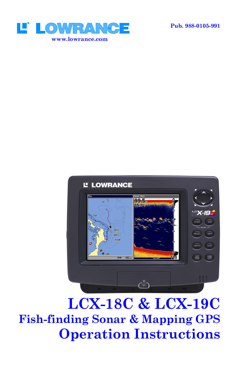pdf for Lowrance GPS LCX-19C manual