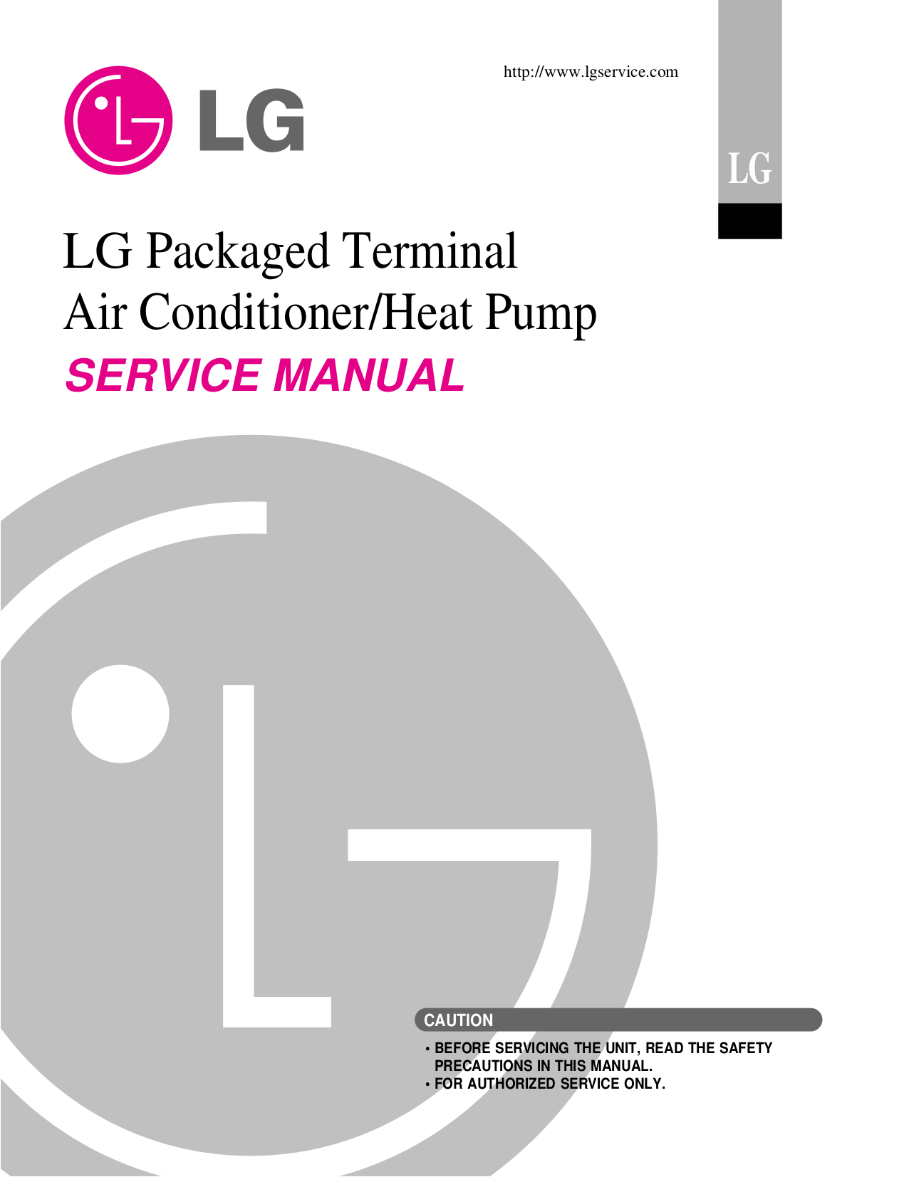 pdf for LG Air Conditioner LP070CED1 manual