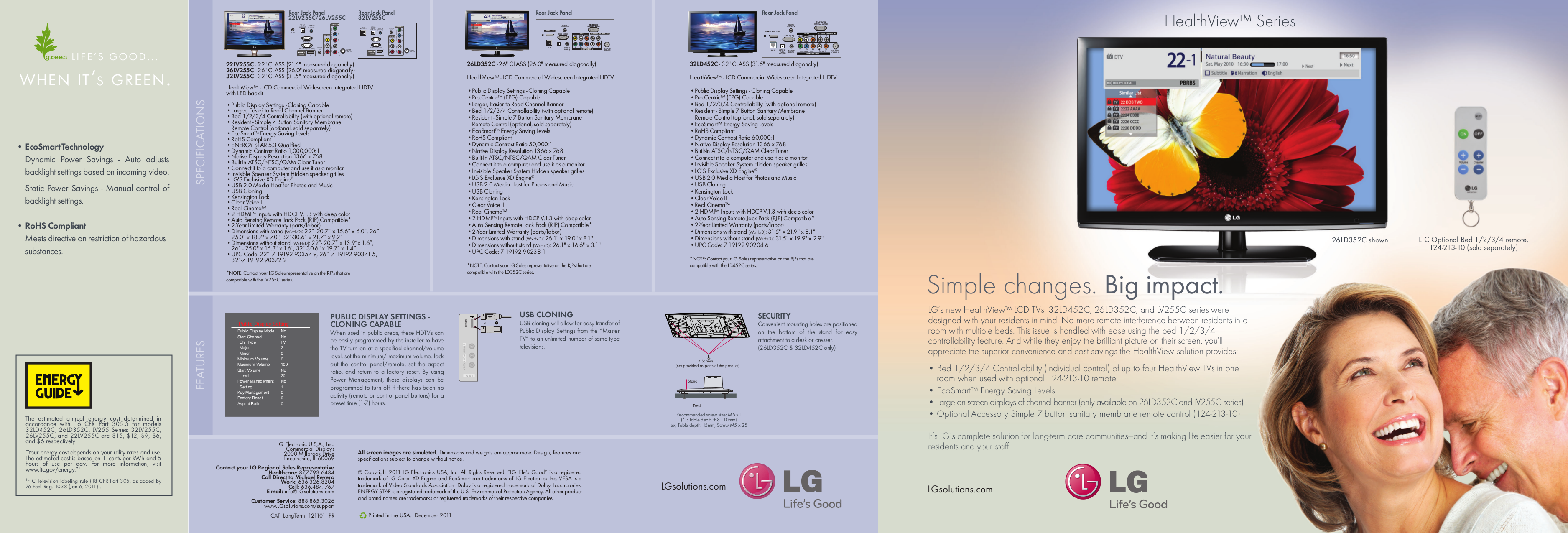 pdf for LG TV 32LD452C manual