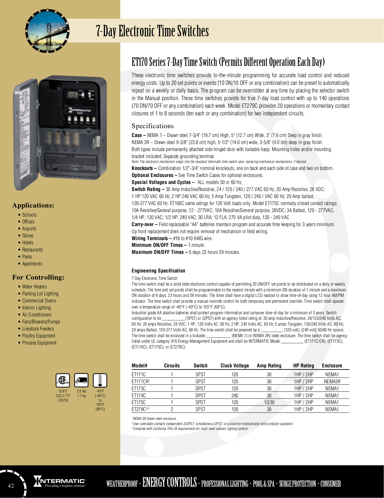 Download Free Pdf For Intermatic Et173c Time Switches