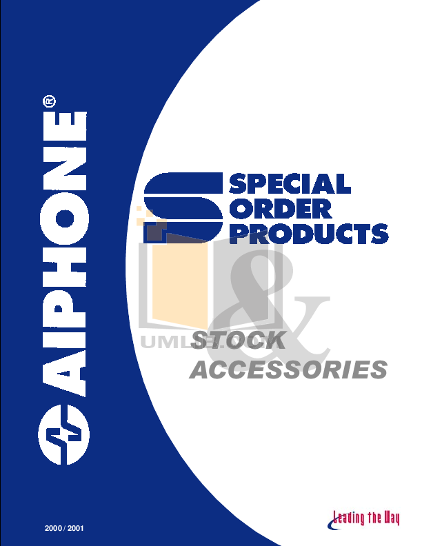 pdf for Aiphone Other NDR Intercoms-Accessory manual