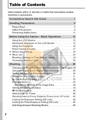 Canon Digital Camera Powershot A560 pdf page preview