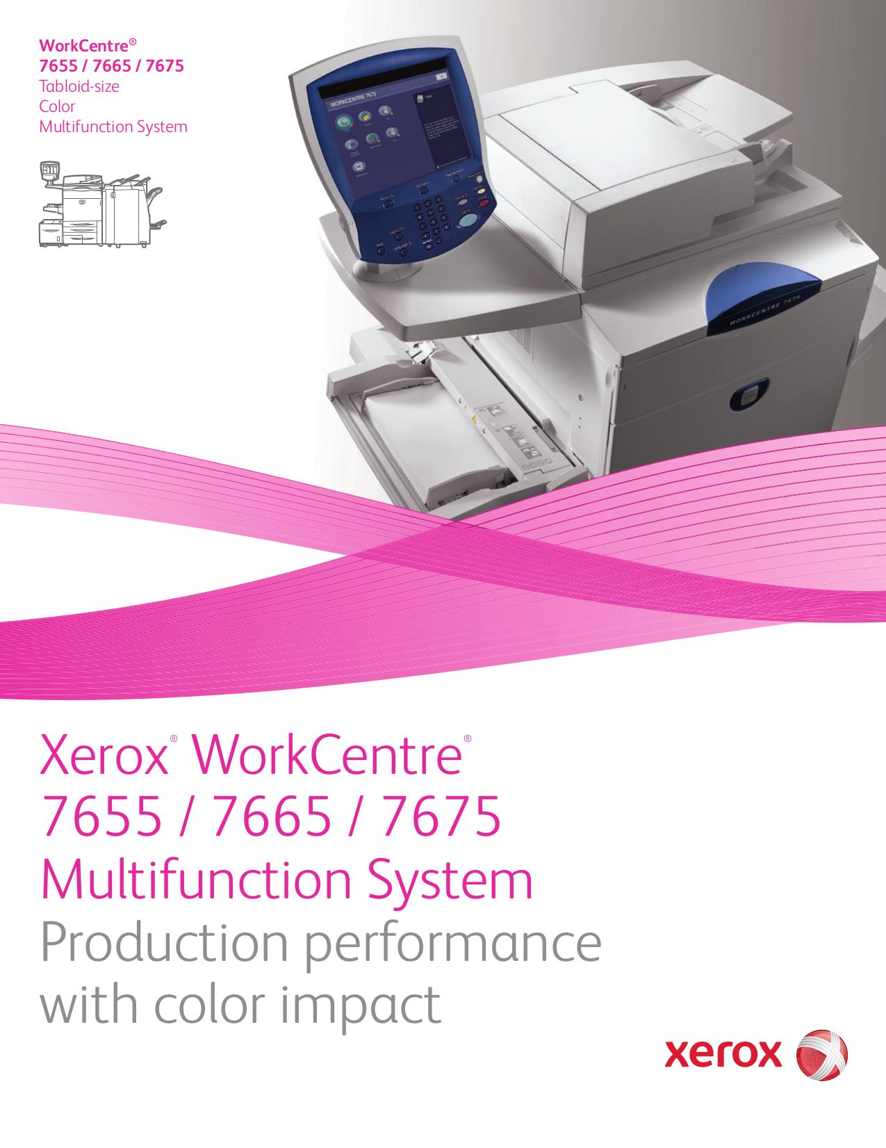 download free pdf for xerox workcentre 7675 multifunction printer manual rh umlib com Xerox WorkCentre 4250 Xerox WorkCentre 7655