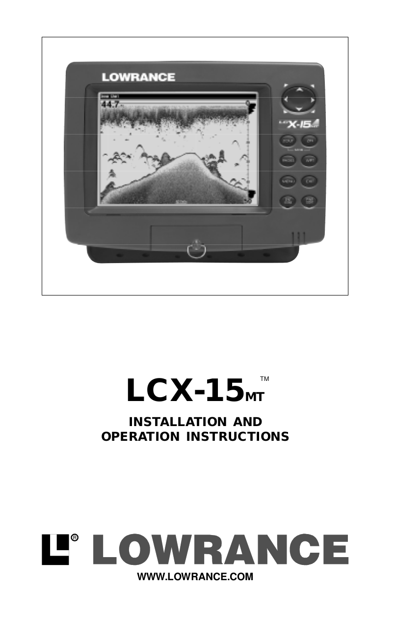 pdf for Lowrance GPS LCX-15 CT manual