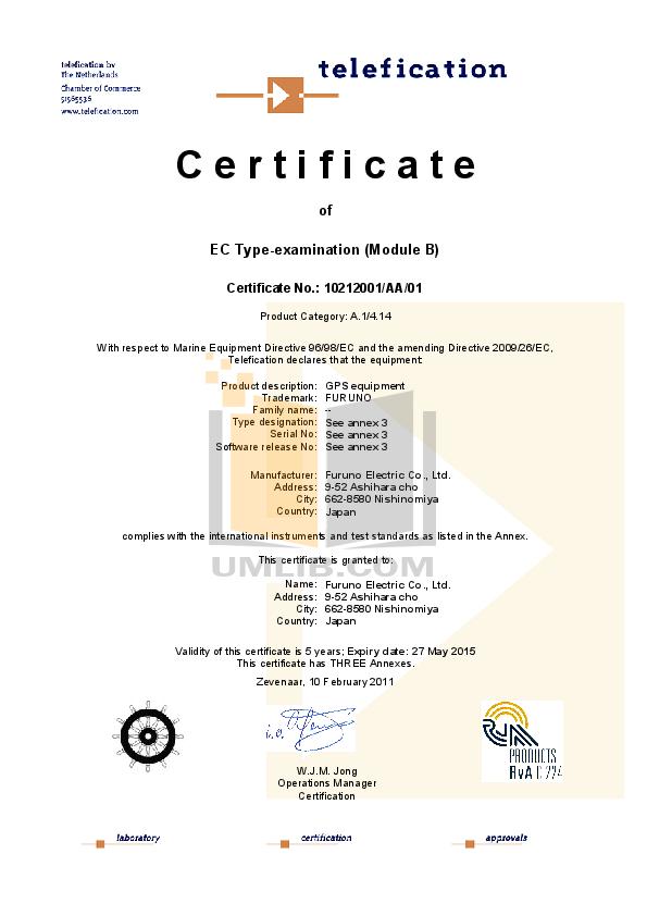 pdf for Furuno GPS GP-150-DUAL manual