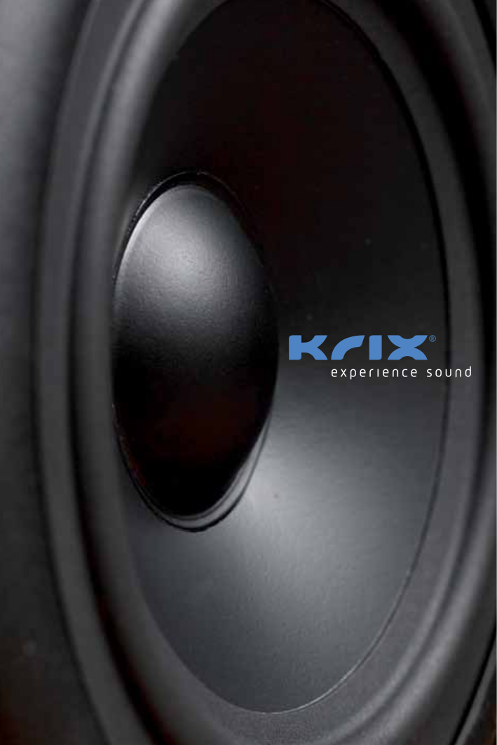 pdf for Krix Speaker Tryptix manual