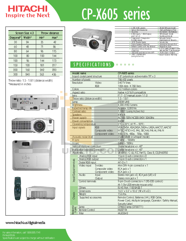 Hitachi x605 manual array download free pdf for hitachi cp x605 projector manual rh umlib com fandeluxe Image collections