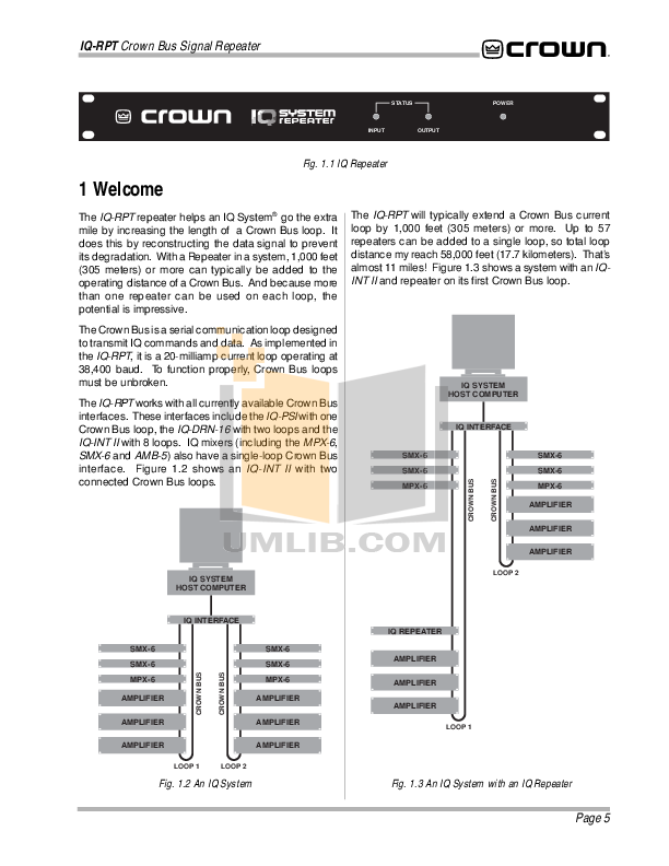 Crown Other MPX-6 IQ Mixers pdf page preview