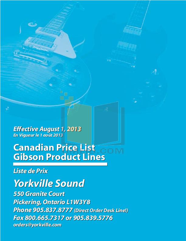 gibson guitar catalog 2014 pdf