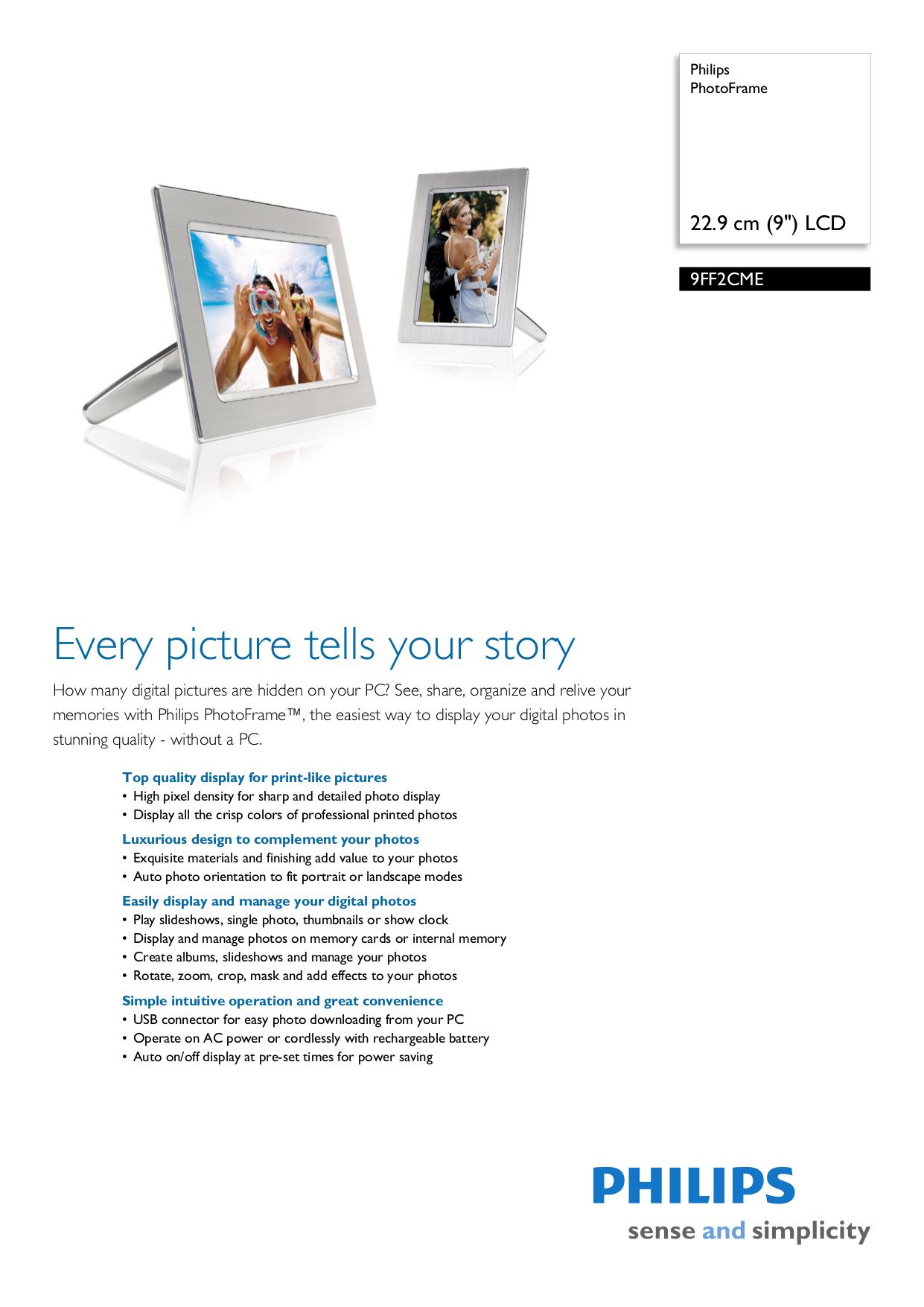 philips digital photo frame 9ff2 manual