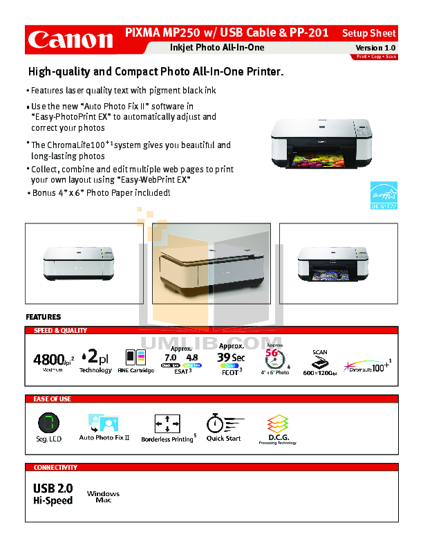 download free pdf for canon pixma mp250 multifunction printer manual rh umlib com