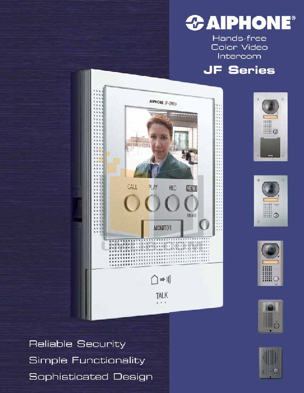 pdf for Aiphone Other JBW-M Intercoms-Accessory manual