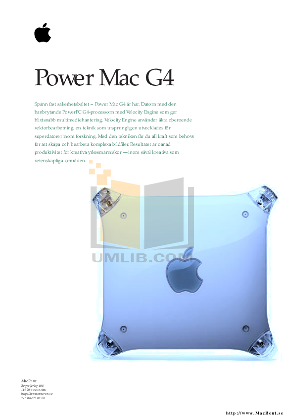 pdf for Apple Desktop Power Mac G4 M7641 manual