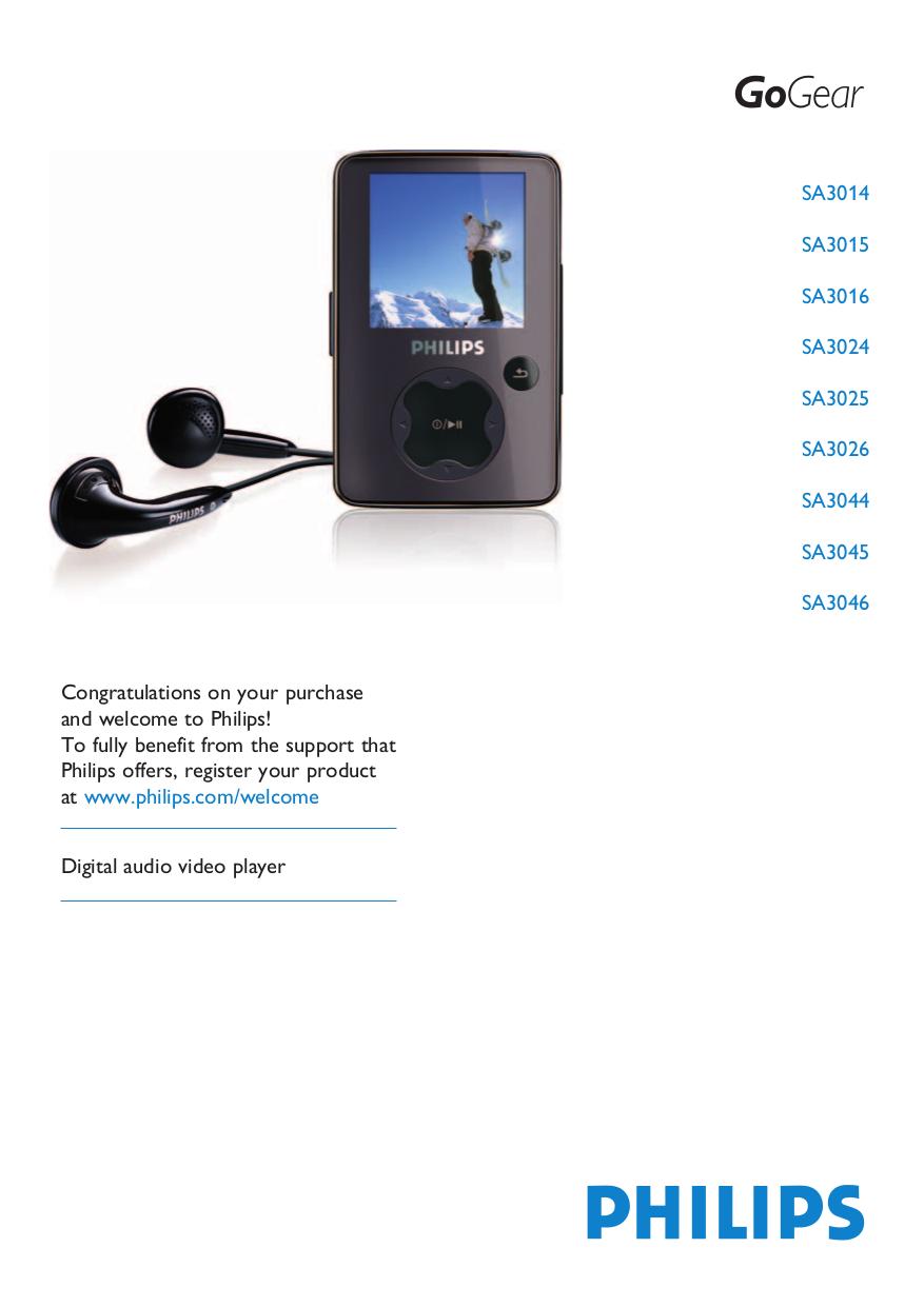download free pdf for philips gogear sa3015 mp3 player manual rh umlib com