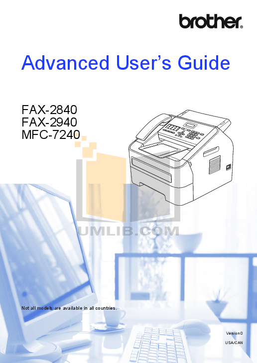 pdf for Brother Fax Machine FAX-400 manual