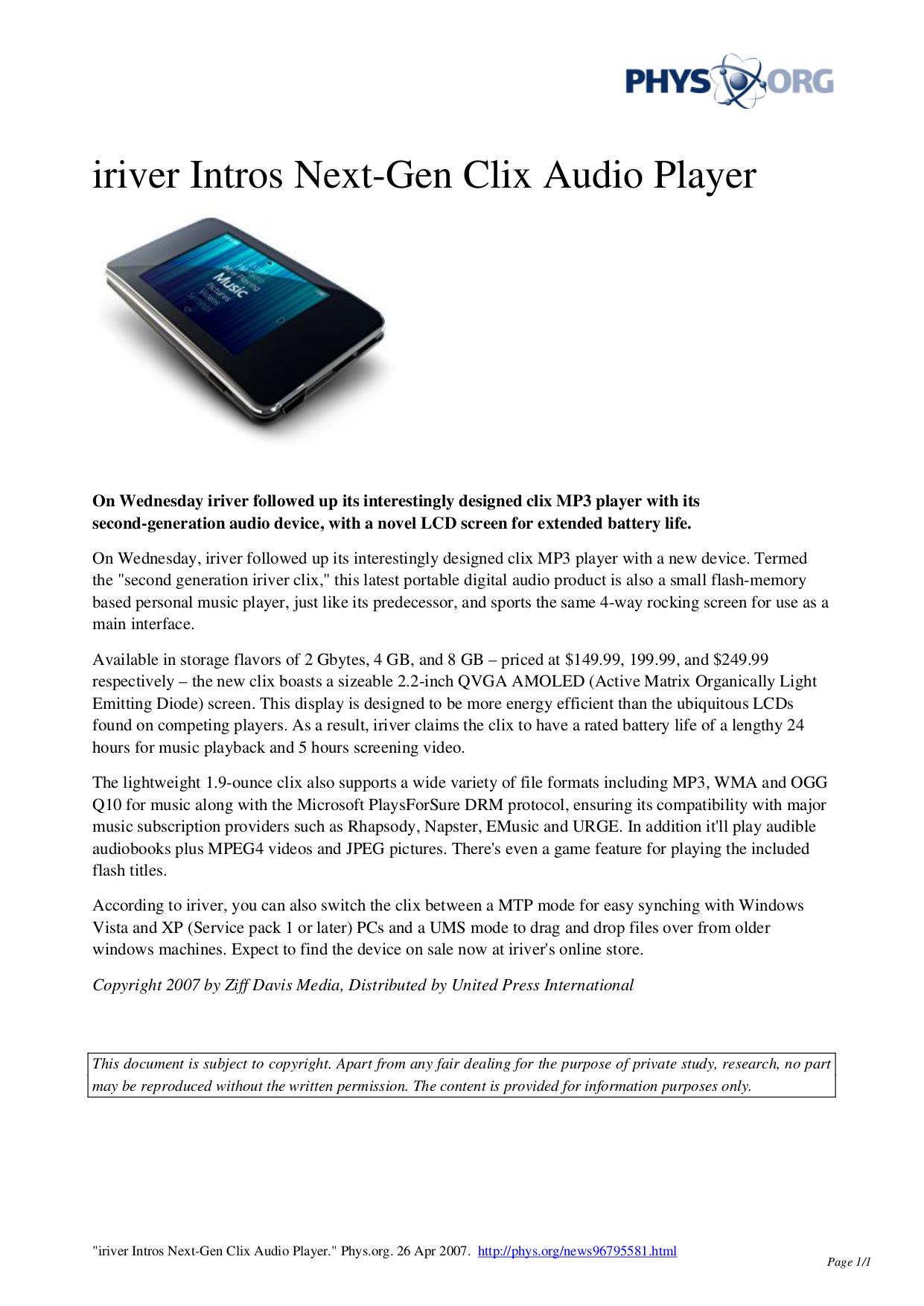 download free pdf for iriver clix mp3 player manual rh umlib com iRiver U10 Iriver AK70 Mkii