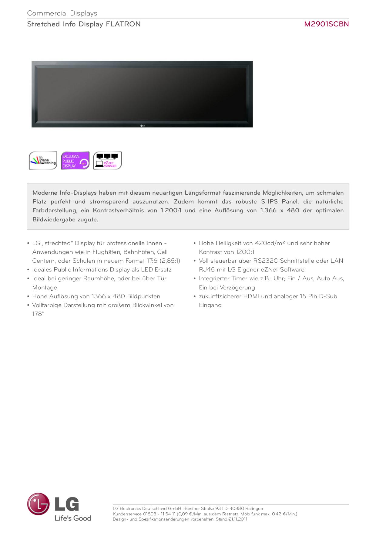 pdf for LG Monitor M2901SCBN manual