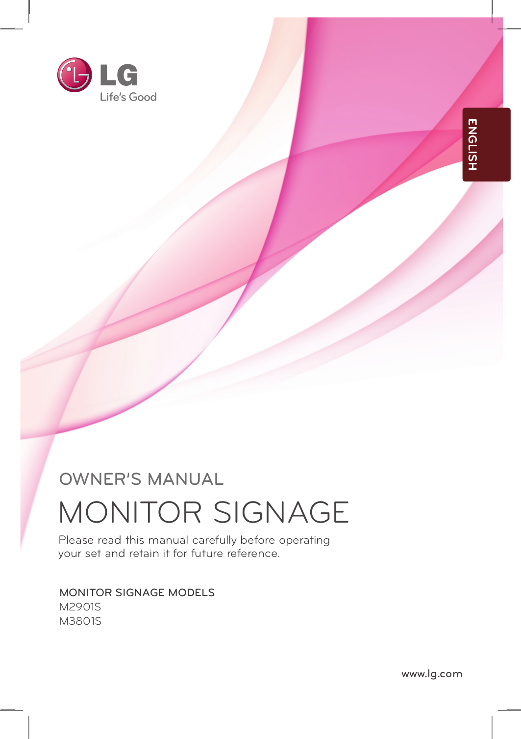 pdf for LG Monitor M2901SCBN manual