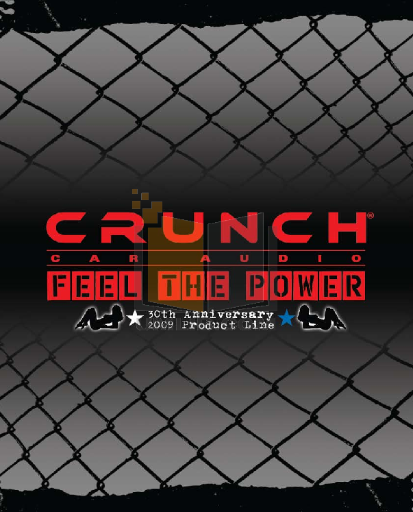 pdf for Crunch Car Amplifier Ground Pounder GPV1600.4 manual
