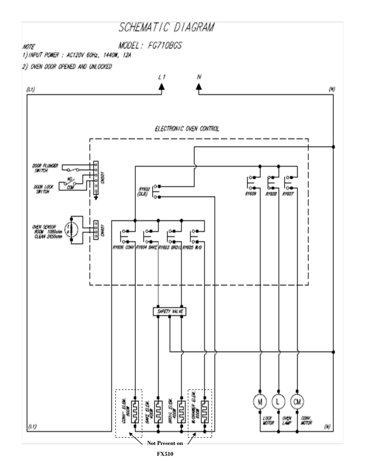 Pdf Manual For Samsung Range Fx710bgs Oven Door Schematic Page Preview