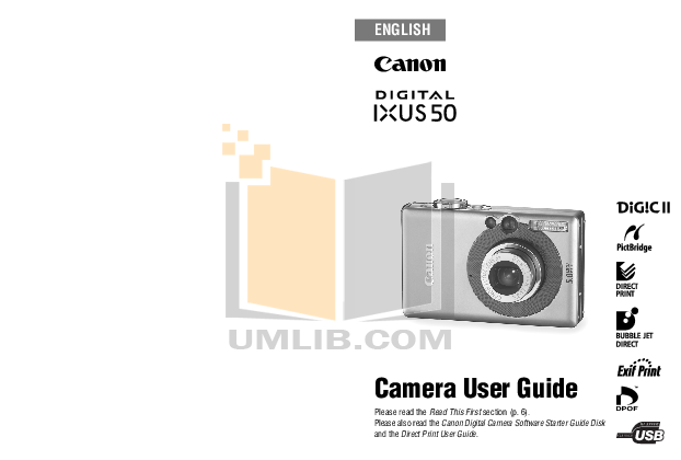 pdf for Canon Digital Camera IXUS 330 manual