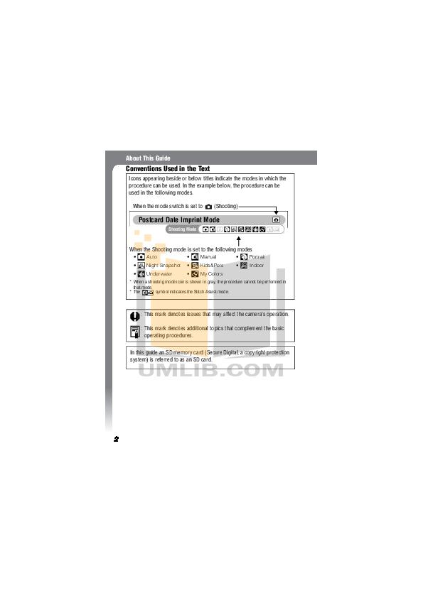 Canon Digital Camera IXUS 330 pdf page preview
