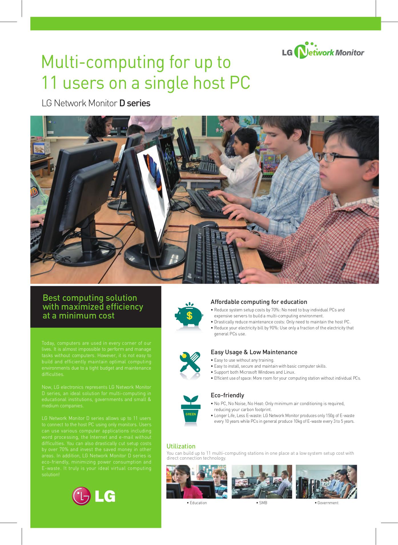 pdf for LG Monitor N1742LP manual