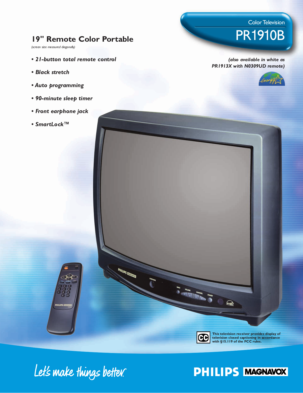 Download free pdf for Philips PR1913X TV manual