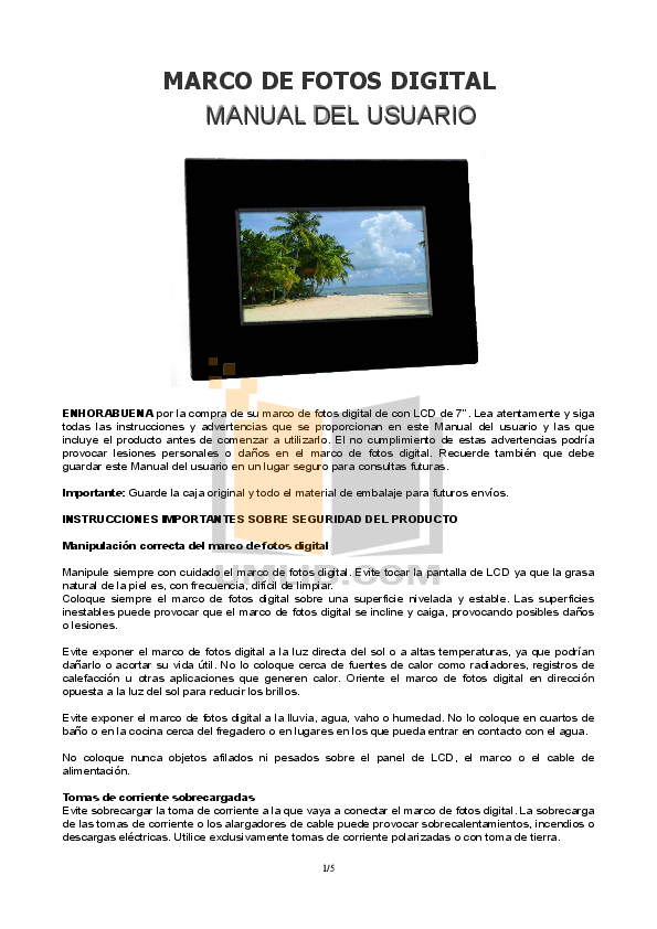 Download free pdf for Coby DP-758 Digital Photo Frame manual