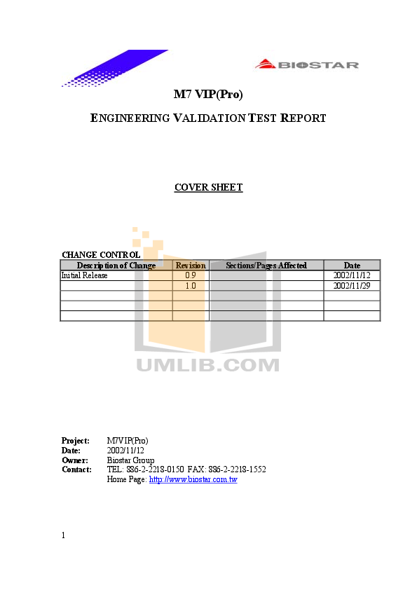 pdf for Biostar Other M7VIP Motherboard manual