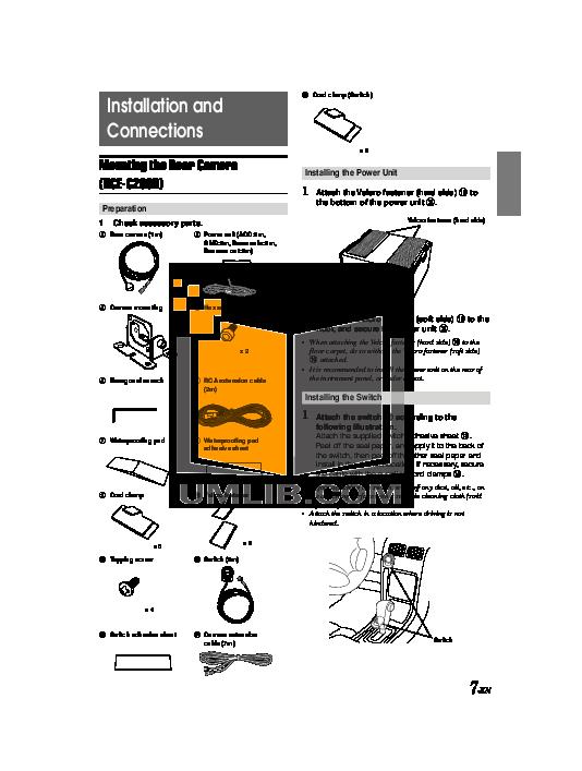 Alpine Car Video IVA-W200 pdf page preview