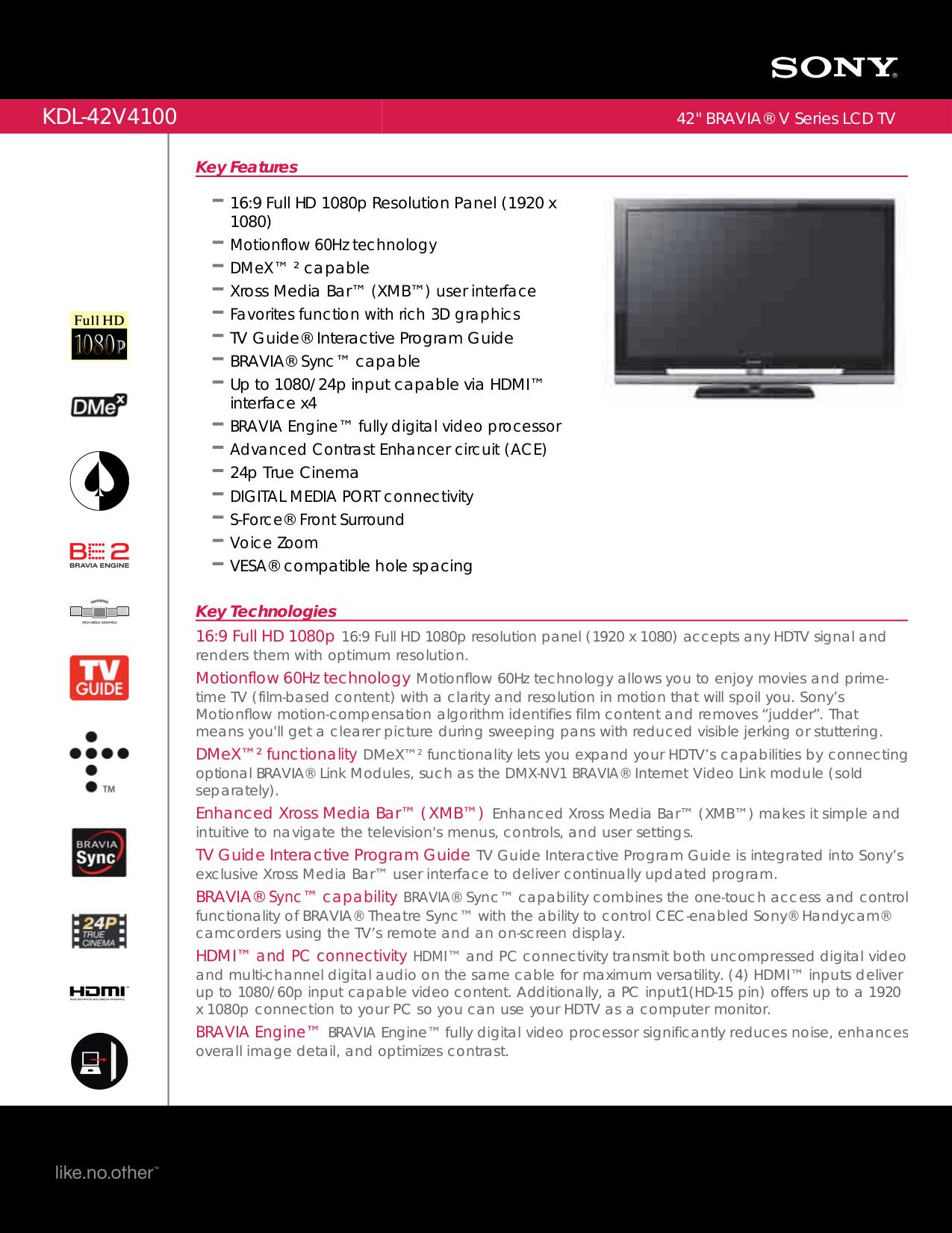 download free pdf for sony bravia kdl 42v4100 tv manual rh umlib com Sony KDL 42V4100 Power sony kdl-42v4100 service manual
